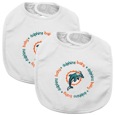 Baby Fanatic Team Color Bibs, Miami Dolphins, 2-Count