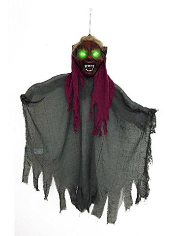 42  Halloween Hanging Goblin With Glowing Green Eyes Creepy Scary Decoration Best Halloween Decoration Prop