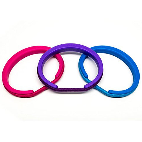 b+sweet by Maria Shireen - Teen Hair Tie Bracelet - 3 Piece Set - Metallic Plastic