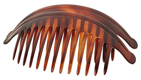 France Luxe Large Interlocking Comb Pair - Tortoise