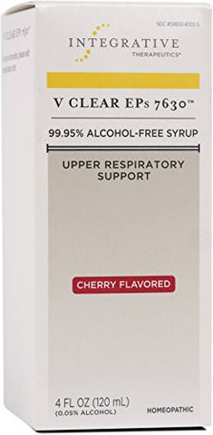 Integrative Therapeutics - V Clear EPs 7630 - 99.95% Alcohol-Free Syrup - Upper Respiratory Treatment - Cherry Flavored - 4 fl oz