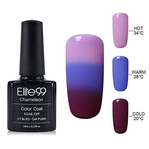 Elite99 10ML UV LED Thermal Temperature Color Changing Gel Nail Polish Soak Off Nail Lacquer 4220