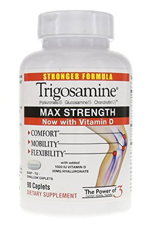Trigosamine Maximum Strength, Triple Action Formula, 90 Count