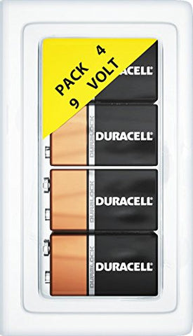 Duracell 9 Volt Alkaline MN1604 Duralock Batteries + FREE Plastic Storage Battery Clamshell Blister Case [Expires 2019]