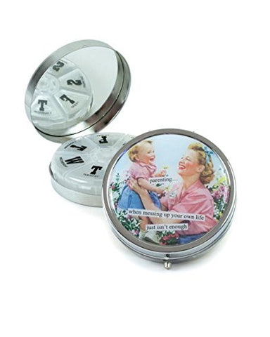 Anne Taintor Pill Box Compact - Parenting