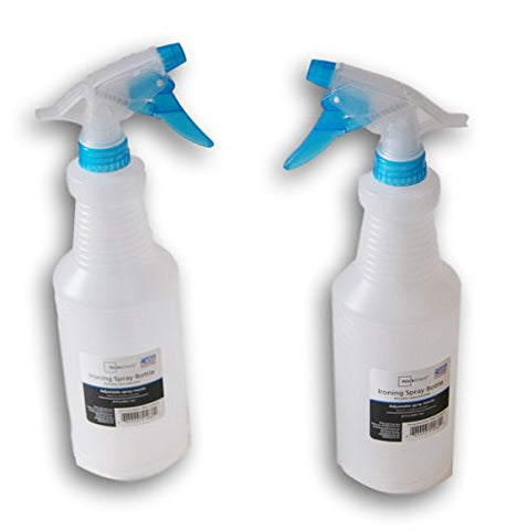 Plastic Ironing Spray Bottle - 28 Ounces - 2 Count