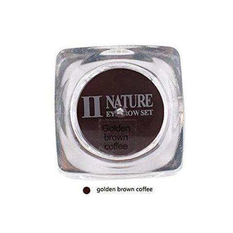 Biomaser PCD Tattoo Ink 15ml Goden Brown Coffee Microblading Pigment Square Bottles Pigment Professional Permanent Makeup Ink Supply For Eyebrow Lip Make up