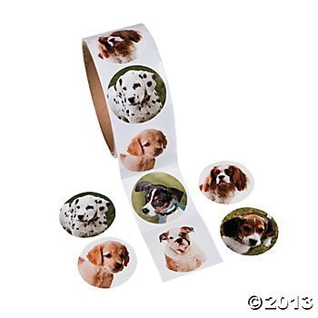 Fun Express Adorable Puppy Dog Stickers (100)