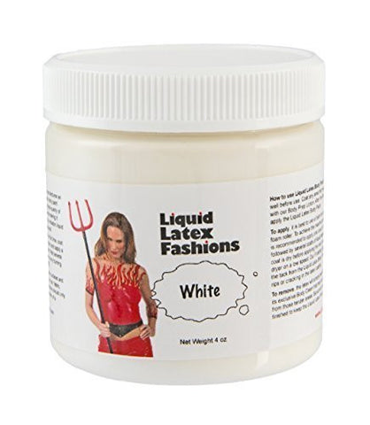 Ammonia Free Liquid Latex Body Paint - 4oz White