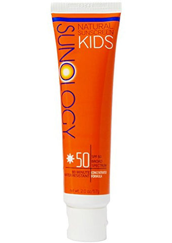 Sunology Kid's & Baby Safe Mineral Sunscreen SPF 50 Broad Spectrum Lotion, 2 Ounce Tube