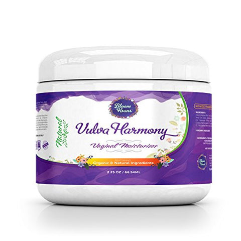 Vulva Balm Cream - Vaginal Moisturizer - Organic & Natural - Intimate Skin Cream - Estrogen Free Treatment - Reduce Vaginal Dryness , Odor, Itching & Burning- Feminine Harmony