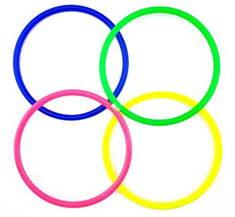 yueton Inside Diameter 11.5cm/4.5 Medium Size Plastic Toss Rings for Speed and Agility Practice Games