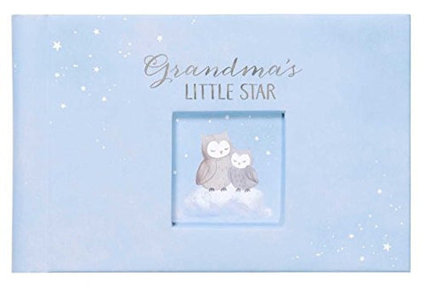 C.R. Gibson Grandma's Brag Book, By Carter's, 10 Sheets/20 Pages, Holds Up To 40 Photos,  Acid/PVC Free Photo Safe Pages, Measures 4.5 x 7 - Wish Upon A Star