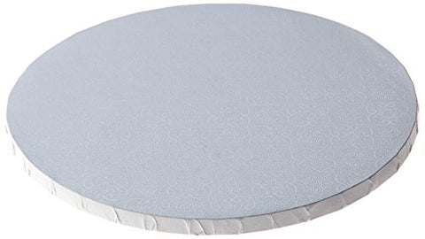 W PACKAGING WPDRM12W 1/2  Thick, Round Cake Drum, Corrugated with Coated Embossed Foil, Covers Top and Sides, 12 , White