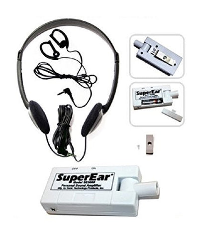SuperEar Sonic Ear Personal Sound Amplifier Model SE5000 (Upgrade of Model SE4000) Increases Ambient Sound Gain 50dB, CMS/ADA Compliant Assistive Listening Device Complete System
