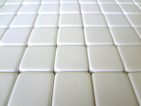 50 Blank White Dice 16MM