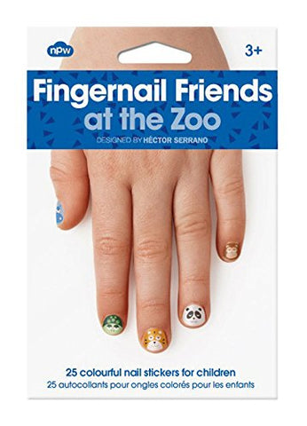 NPW-USA At The Zoo Fingernail Friends Nail Stickers (25 Count)