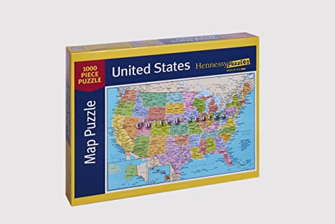 United States of America Map 1000 Piece Jigsaw Puzzle ...