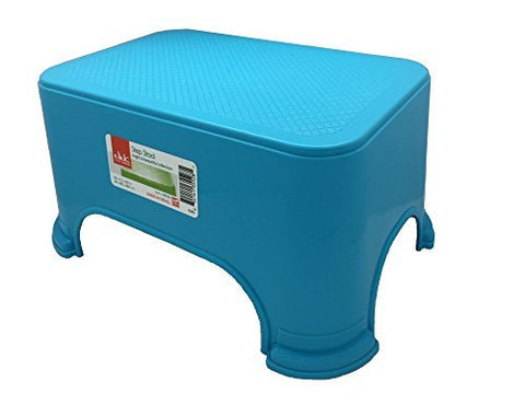Click Home Design - Step Stool - Bright & Beautiful Collection #35528 - 11.5 x 7.3 x 6.5 inches (Blue)