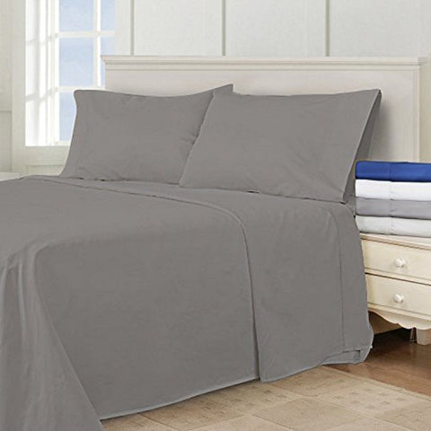 Super King California King Oversized 3 Piece Duvet Cover Set (120  x 98 ) (Steeple Grey)