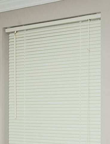 Achim Home Furnishings Morning Star 1-Inch Mini Blinds, 66 by 64-Inch, Alabaster