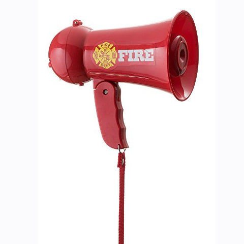 Pretend Play Kids Fire Fighter's Megaphone (Bullhorn) with Siren Sound. Handheld Mic Toy