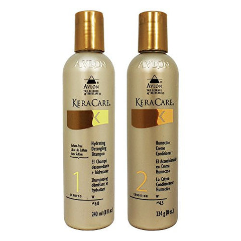 Avlon Keracare Hydrating Shampoo 8oz + Humecto Conditioner 8oz
