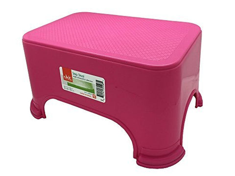 Click Home Design - Step Stool - Bright & Beautiful Collection #35528 - 11.5 x 7.3 x 6.5 inches (Pink)