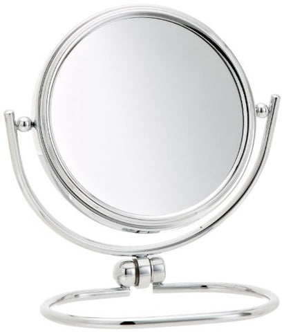 Jerdon MC310C 3-Inch Mini Folding Travel Mirror with 10x Magnification and Velveteen Storage Pouch, Chrome Finish