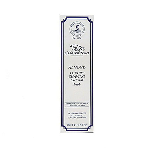 Almond Shaving Cream Tube 75ml shave cream by Taylor of Old Bond Street