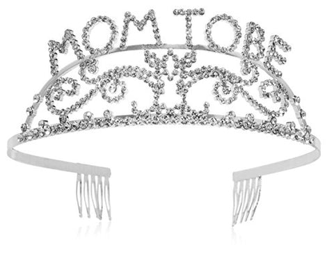 Elegant Rhinestone Mom to Be Tiara - Premium Quality Baby Shower Tiara for the Mother to Be
