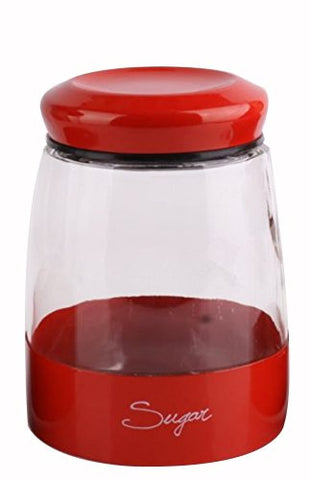 Europe Ware JA 1212 RED Glass Sugar Jar, 49 oz, Red