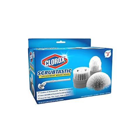 CLOROX Scrubtastic Replacement Brush Heads (Set of 3)