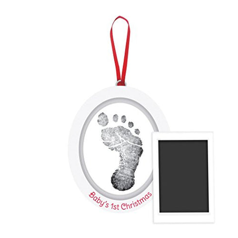 Pearhead Babyprints Newborn Baby Handprint or Footprint Double-Sided Photo Ornament with Clean Touch Ink Pad - Makes A Perfect Holiday Gift