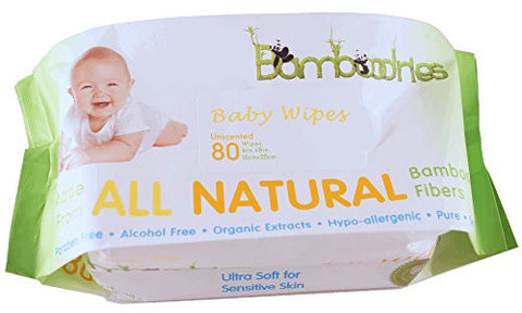 Bamboodries Baby Wipes, Unscented, All Natural Bamboo for Sensitive Skin, Soft Case and Easy Dispenser, Hypo-allergenic Durable Sheets Using Organic Extracts, Highest Quality