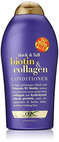 OGX (Thick & Full) Biotin & Collagen Shampoo 19.5oz + Conditioner 19.5oz Duo-Set