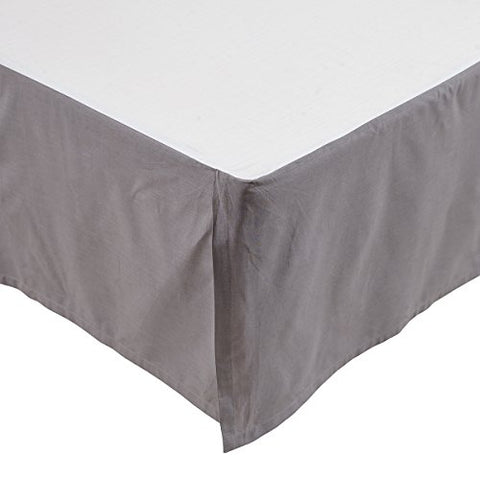 VHC Brands Rochelle 21233 Bed Skirt, King, Grey