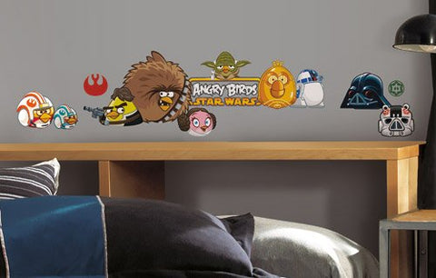 Roommates RMK2164SCS Angry Birds Star Wars Peel  and  Stick Wall Decals