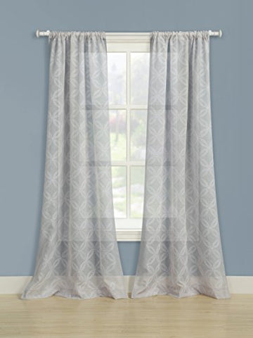 Laura Ashley Chancery Panel Pair, 84 , Gray