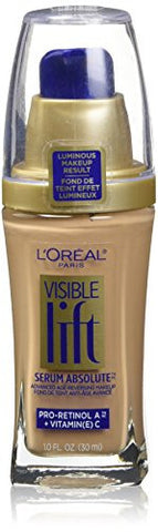 L'Oreal Paris Visible Lift Serum Absolute Advanced Age-Reversing Makeup, Buff Beige, 1.0 Ounces
