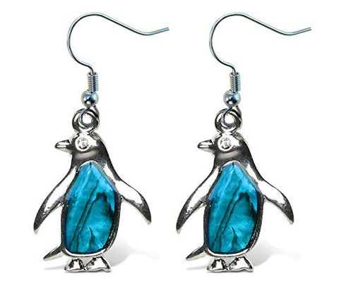 Puzzled Penguin Earrings-ocean Life-1.35 Inch-unique Gift and Souvenir-item#6814