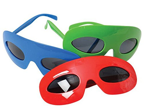 TwiceBooked Set of 3 Super Hero Glasses Masks - 1 Each Red, Blue & Green