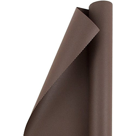 JAM Paper® Solid Color Wrapping Paper - 25 Sq Ft - Matte Chocolate Brown - Matte Wrapping Paper Roll - Sold Individually