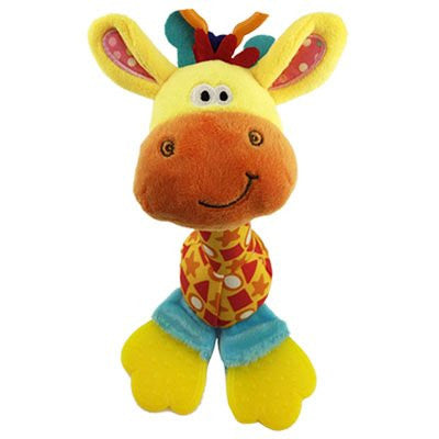 The Teething Giraffe Baby Giraffe Teether Soothes Baby's Sore Gums and Teeth with Soother Play Toy BPA Free