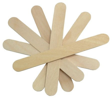 Cotton Orchid Large Wide Wood Wax Spatula Applicator 6 x 3/4