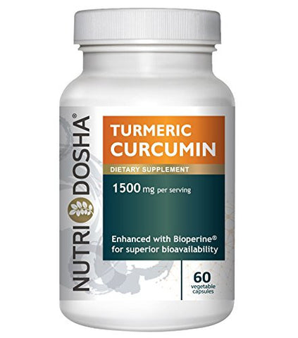 1425 mg Active Curcuminoids in 95% Standardized Turmeric Curcumin Extract with Bioperine® for Maximum Absorbency - Highest Potency Ayurveda Curcuma Longa Tumeric Root Powder | 60 vegetable capsules | 2 pills per svg