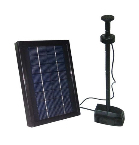 2.5 Watt Solar Powered Water Pump with LED and Battery