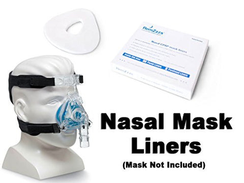 RemZzzs Full  face and Nasal CPAP Mask Liners (Fits the following Nasal masks: RESPIRONICS COMFORTGEL NASAL - RESPIRONICS COMFORTCLASSIC NASAL - RESPIRONICS PRO LITE NASAL - RESPIRONICS COMFORT SELECT NASAL - RESPIRONICS COMFORT FUSION NASAL)