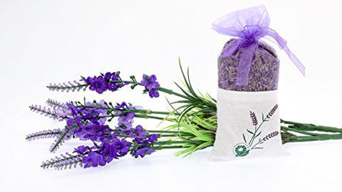 Lavender Dry Flower 20 Grams - Cozy Pouch Filled with Dried Lavender - Natural Scent Fragrance for Aromatherapy