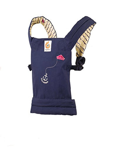 Ergobaby Toy Doll Carrier, Sailor, Navy Blue